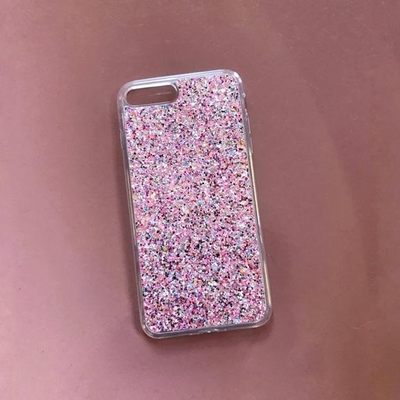 pink glitter phone case iphone 7 8 plus sparkle